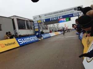 Sven Crossing the line alone.